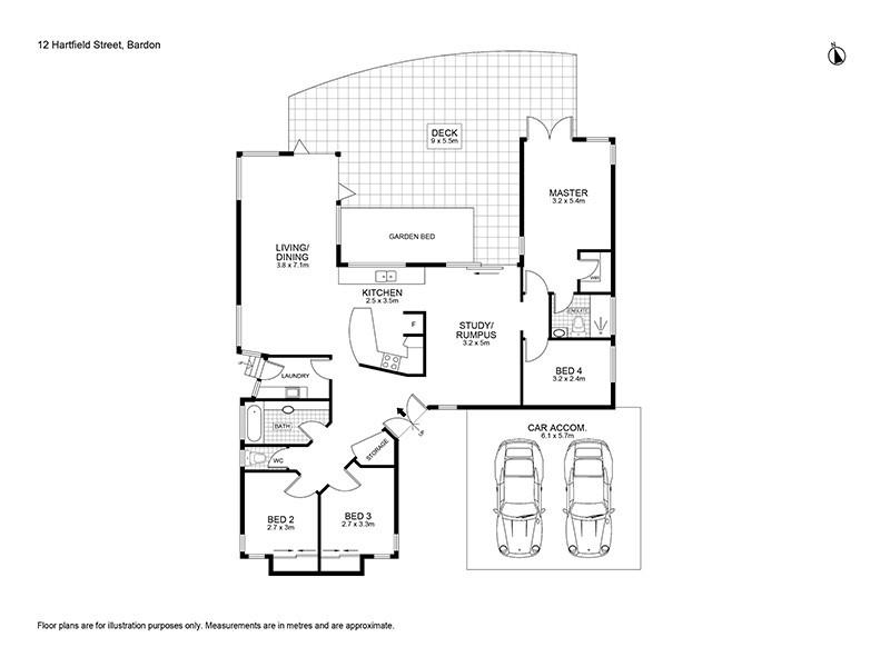 12 Hartfield Drive, Bardon QLD 4065 Floorplan