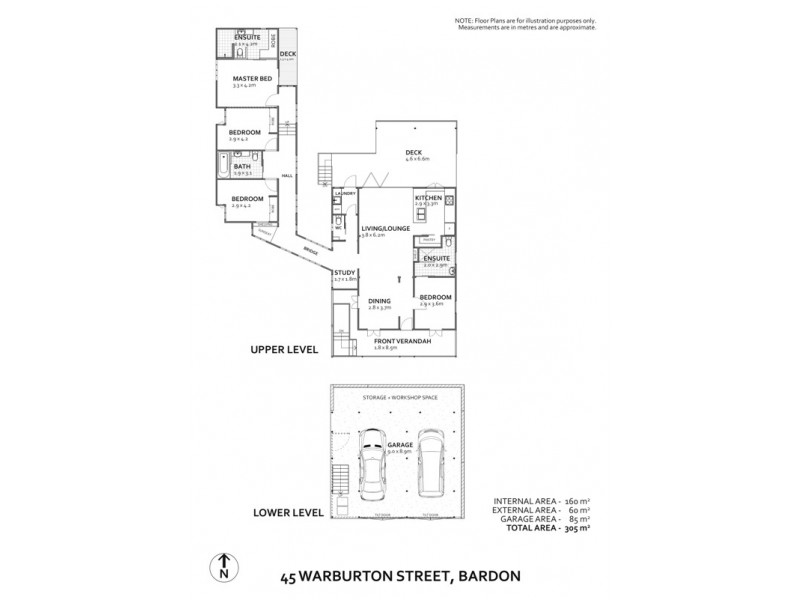 45 Warburton Street, Bardon QLD 4065 Floorplan