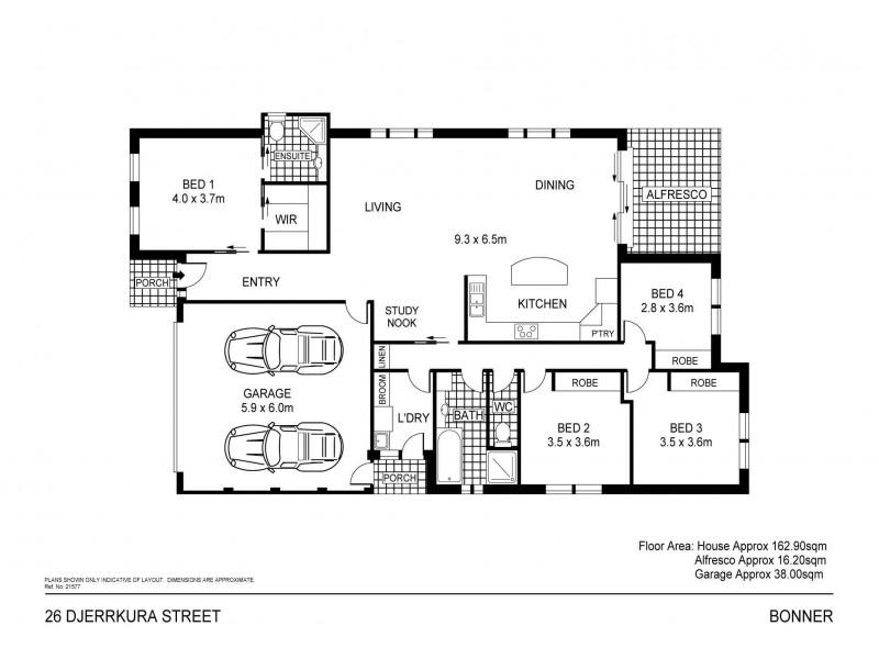 26 Djerrkura Street, Bonner ACT 2914 Floorplan