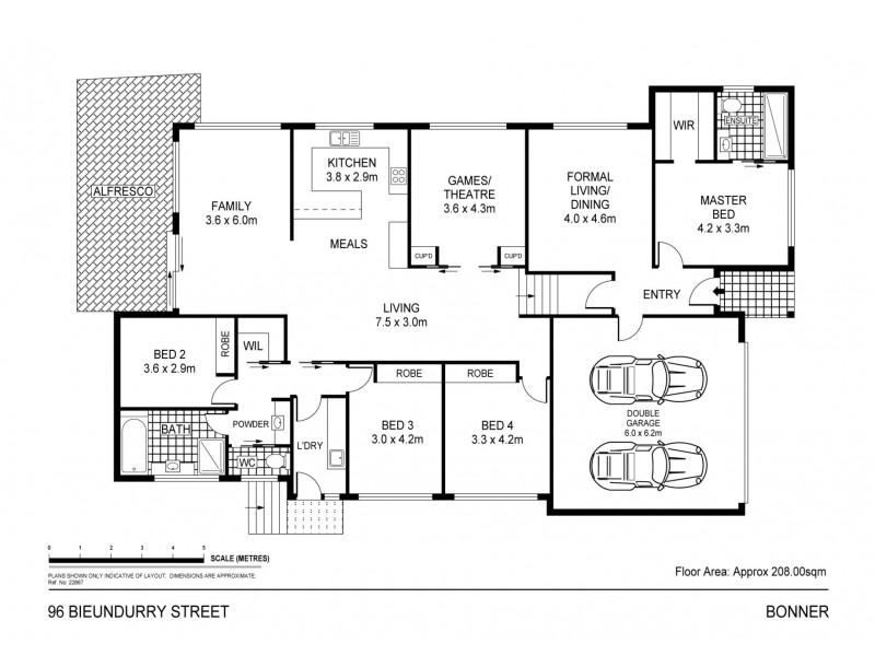 96 Bieundurry Street, Bonner ACT 2914 Floorplan