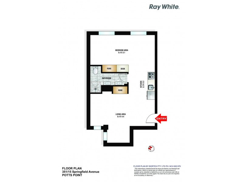 351/15 Springfield Avenue, Potts Point NSW 2011 Floorplan