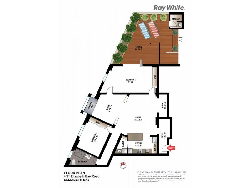 4/51 Elizabeth Bay Road, Elizabeth Bay NSW 2011 Floorplan