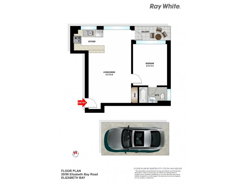 20/90-92 Elizabeth Bay Road, Elizabeth Bay NSW 2011 Floorplan