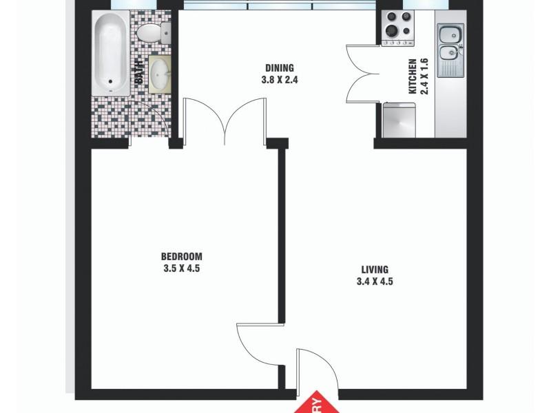 8/127-139 Macleay Street, Potts Point NSW 2011 Floorplan