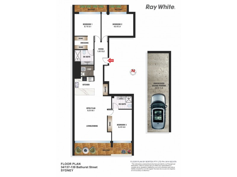 34/137 Bathurst Street, Sydney NSW 2000 Floorplan