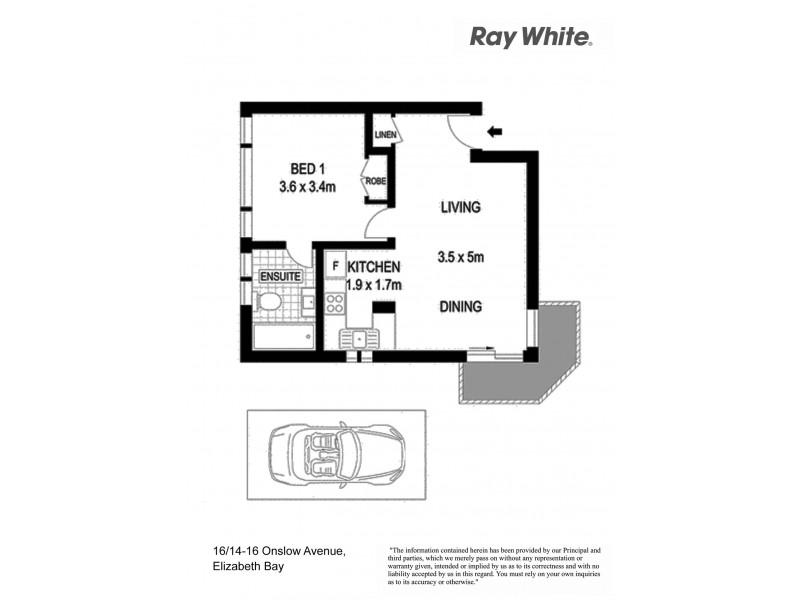 16/14-16 Onslow Avenue, Elizabeth Bay NSW 2011 Floorplan