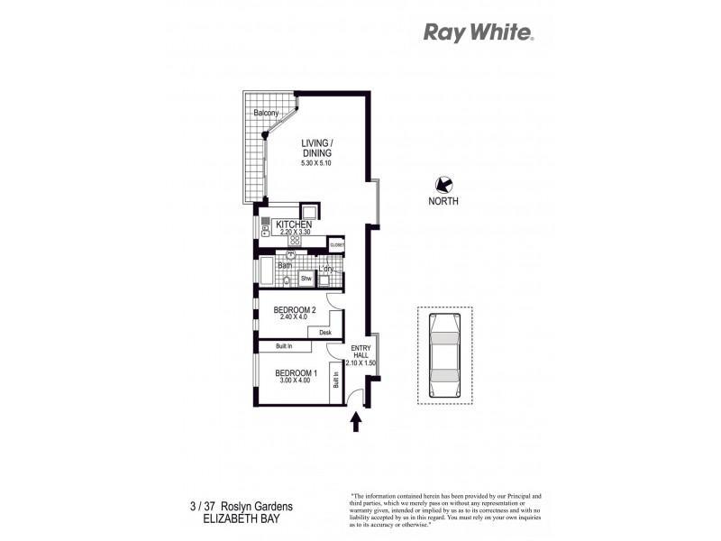 3/37 Roslyn Gardens, Elizabeth Bay NSW 2011 Floorplan
