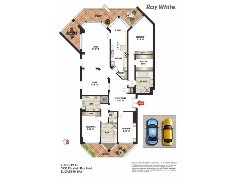 35/93 Elizabeth Bay Road, Elizabeth Bay NSW 2011 Floorplan