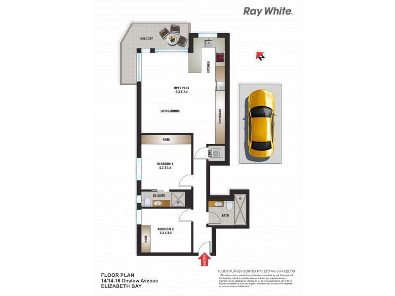 14/14-16 Onslow Avenue, Elizabeth Bay NSW 2011 Floorplan