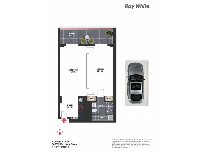 306/50 Macleay Street, Potts Point NSW 2011 Floorplan