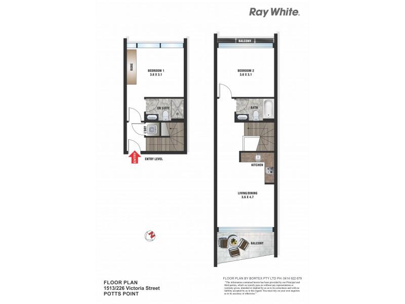 1513/226 Victoria Street, Potts Point NSW 2011 Floorplan