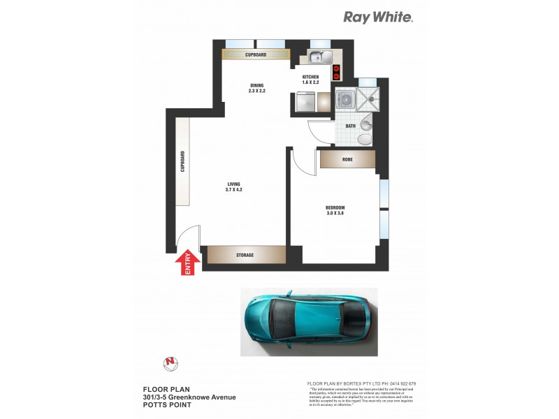 301/3-5 Greenknowe Avenue, Elizabeth Bay NSW 2011 Floorplan