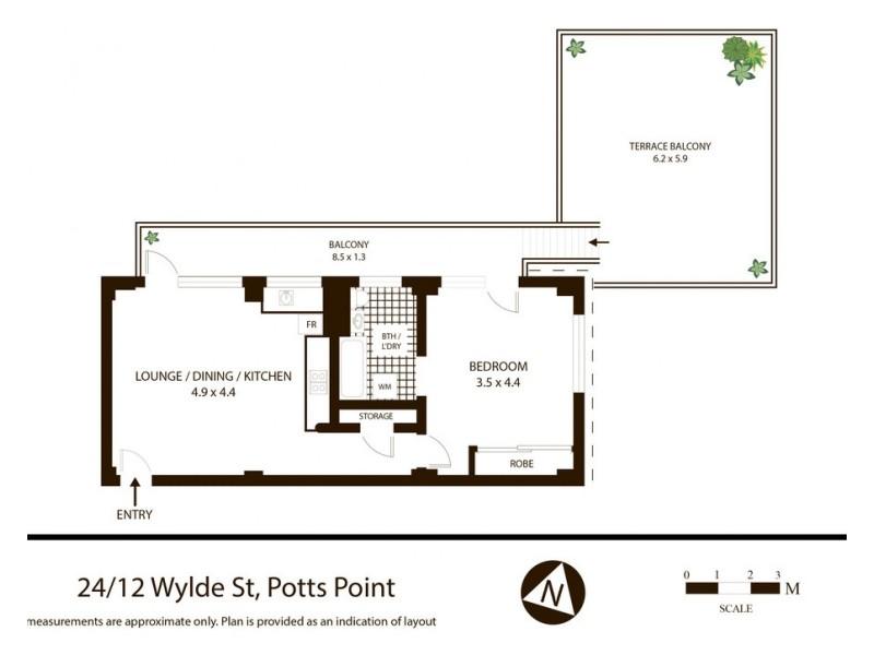 24/12 Wylde Street, Potts Point NSW 2011 Floorplan