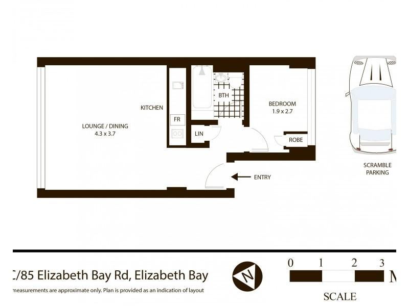 7C/85 Elizabeth Bay Road, Elizabeth Bay NSW 2011 Floorplan