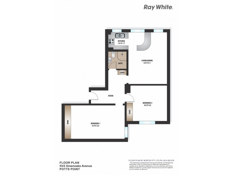 53/2 Greenknowe Ave, Elizabeth Bay NSW 2011 Floorplan