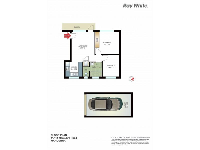 11/114 Maroubra Road, Maroubra NSW 2035 Floorplan