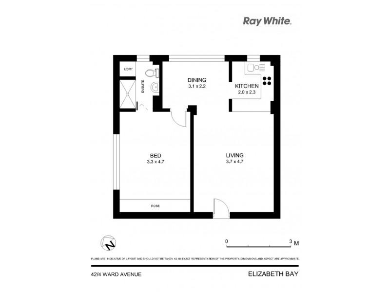 42/4 Ward Avenue, Elizabeth Bay NSW 2011 Floorplan