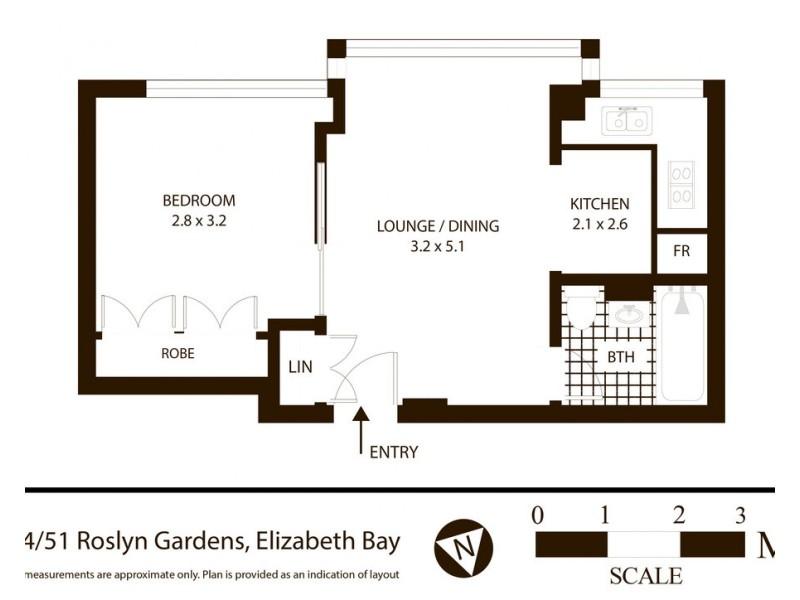 64/51 Roslyn Gardens, Elizabeth Bay NSW 2011 Floorplan