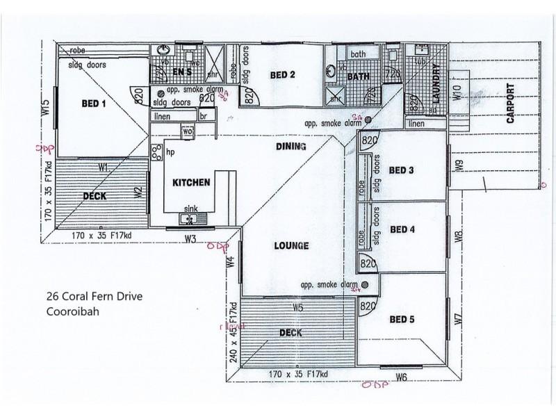 26 Coral Fern Drive, Cooroibah QLD 4565 Floorplan