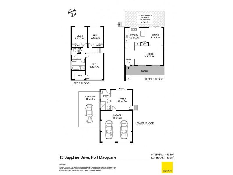 15 Sapphire Drive, Port Macquarie NSW 2444 Floorplan