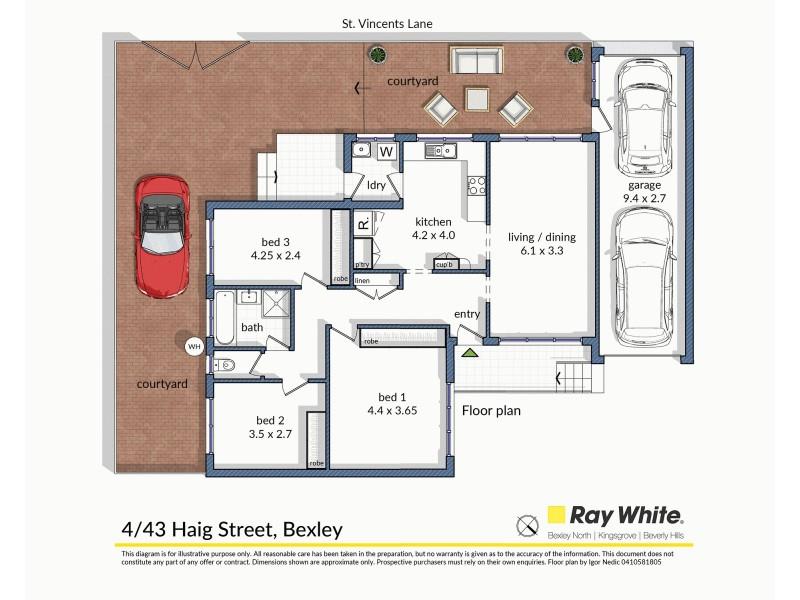 4/43 Haig Street, Bexley NSW 2207 Floorplan