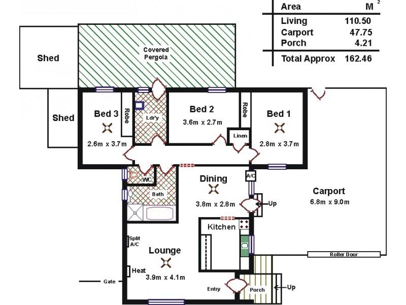 3 Endama Court, Craigmore SA 5114 Floorplan