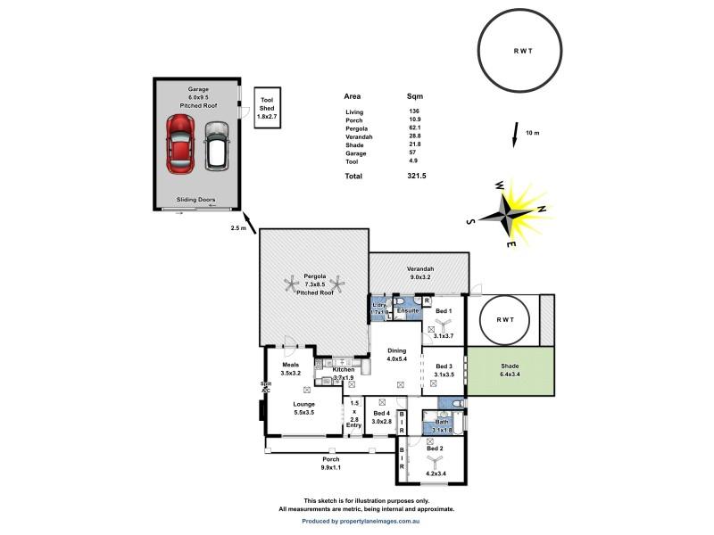 14 Mattiske Street, Freeling SA 5372 Floorplan