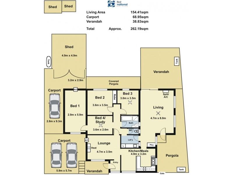 15 Winara Drive, Ingle Farm SA 5098 Floorplan