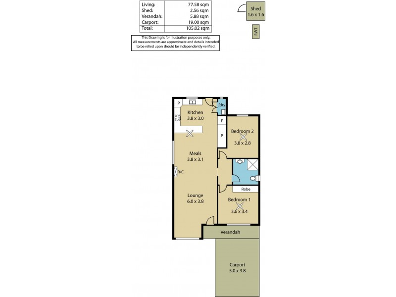 Unit 5, 25 Fradd Court, Angle Vale SA 5117 Floorplan