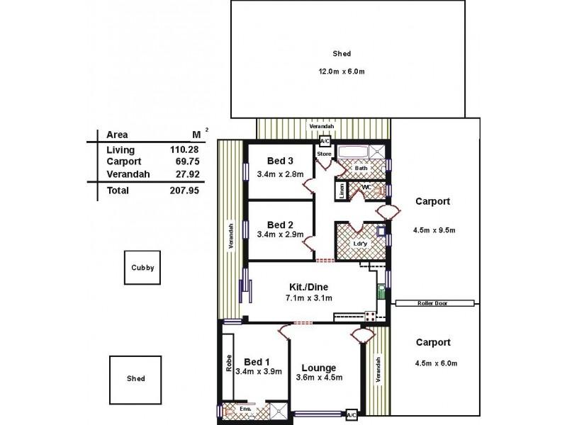 10 Uraidla Avenue, Salisbury North SA 5108 Floorplan