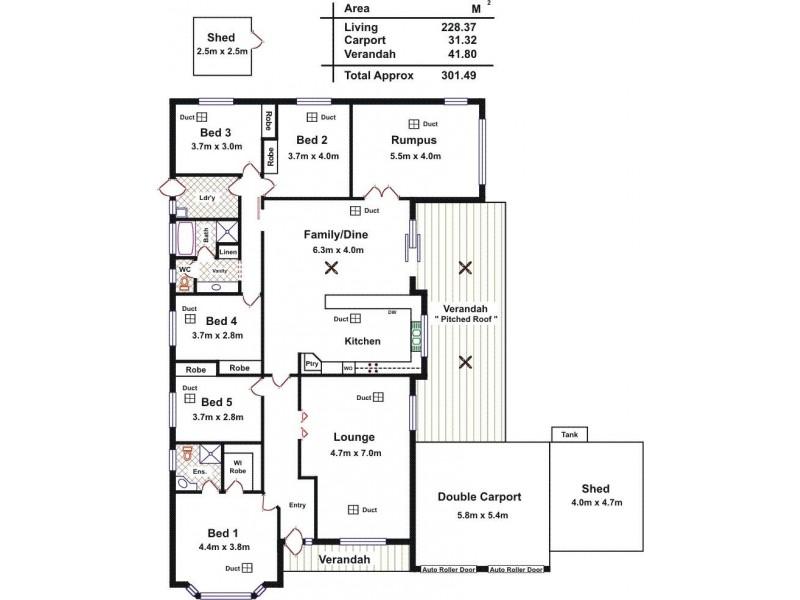 29 Quantock Crescent, Craigmore SA 5114 Floorplan