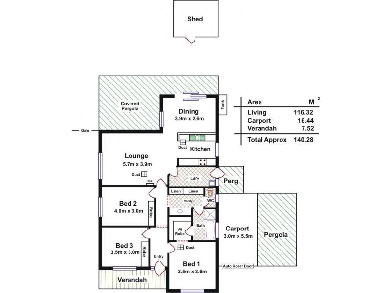 6 Anvil Court, Andrews Farm SA 5114 Floorplan