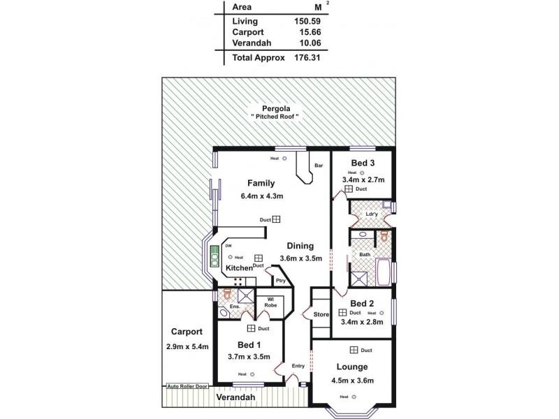 15 Brookside Close, Davoren Park SA 5113 Floorplan