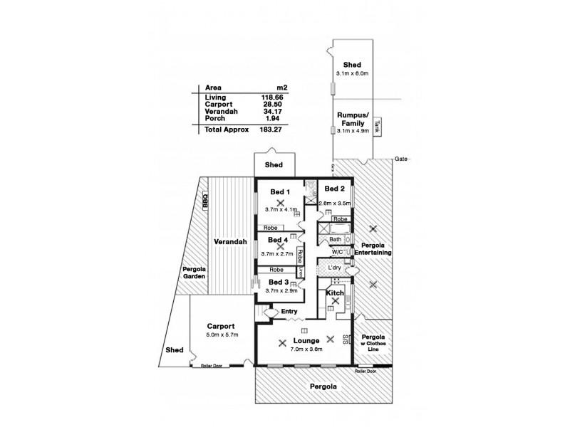 9 Almond Court, Salisbury SA 5108 Floorplan
