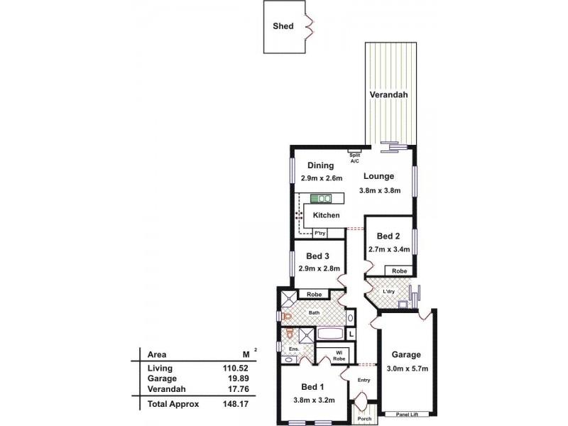 57 Lakeside Drive, Andrews Farm SA 5114 Floorplan