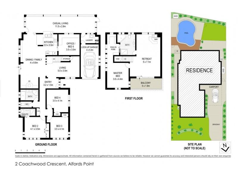2 COACHWOOD CRESCENT, Alfords Point NSW 2234 Floorplan