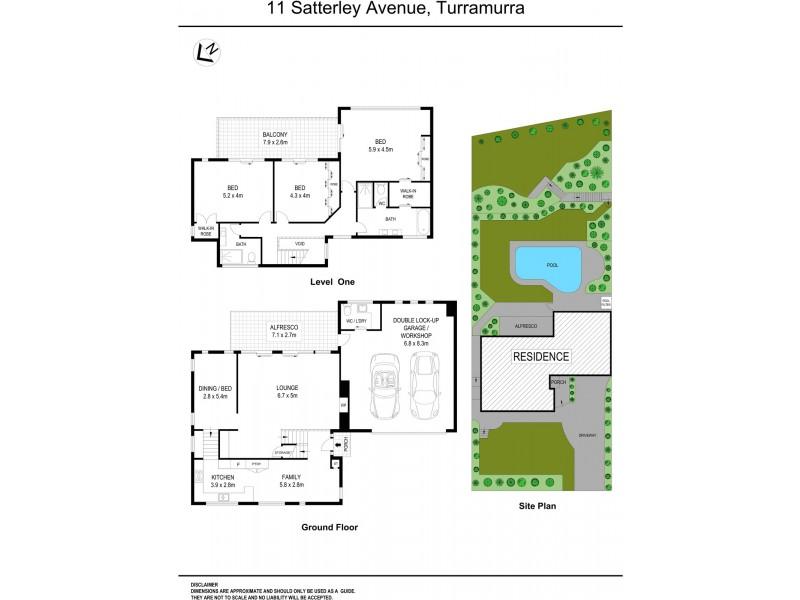 11 Satterley Avenue, Turramurra NSW 2074 Floorplan