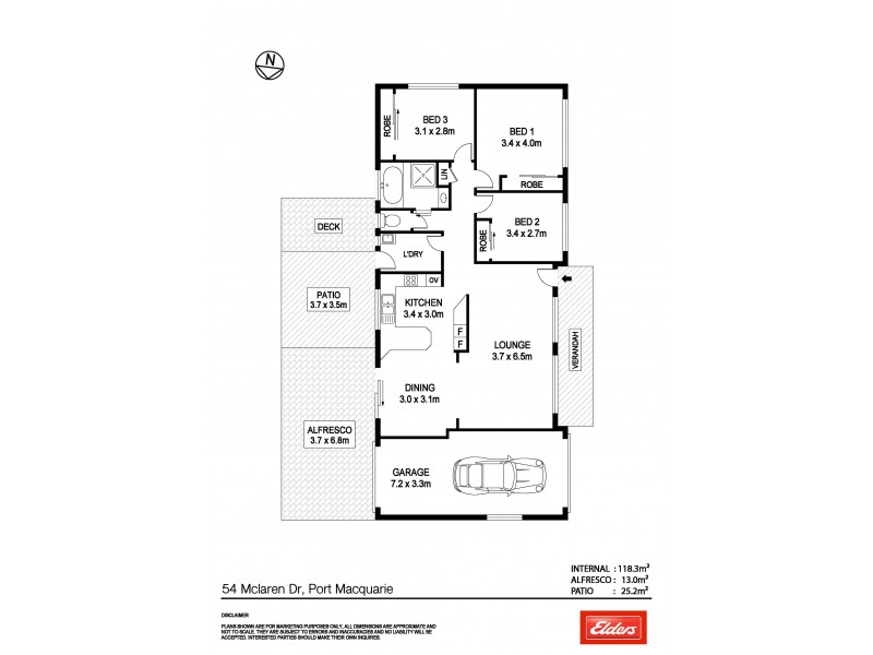 54 McLaren Drive, Port Macquarie NSW 2444 Floorplan