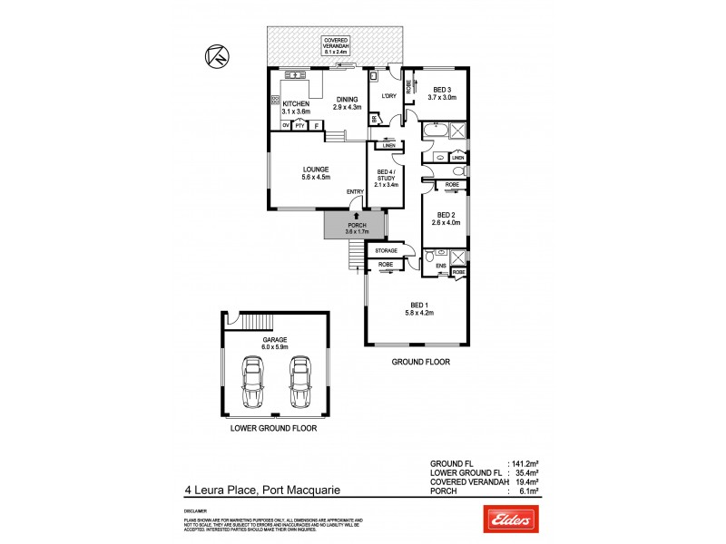 4 Leura Place, Port Macquarie NSW 2444 Floorplan
