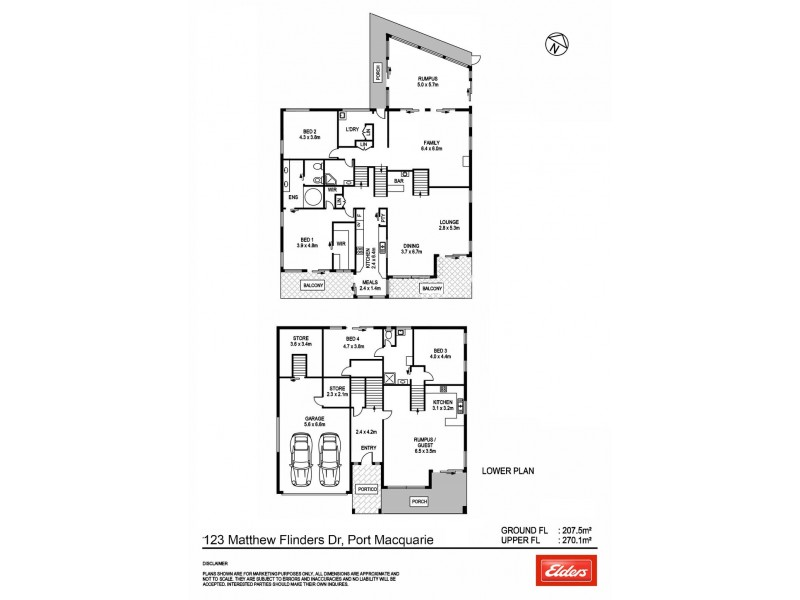 123 Matthew Flinders Drive, Port Macquarie NSW 2444 Floorplan