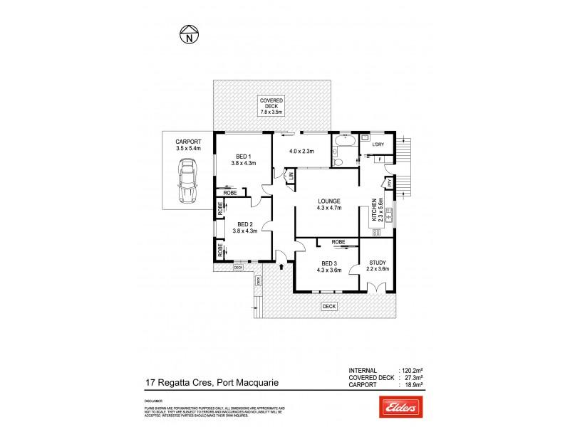 17 Regatta Crescent, Port Macquarie NSW 2444 Floorplan