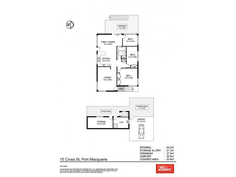 15 Cross Street, Port Macquarie NSW 2444 Floorplan