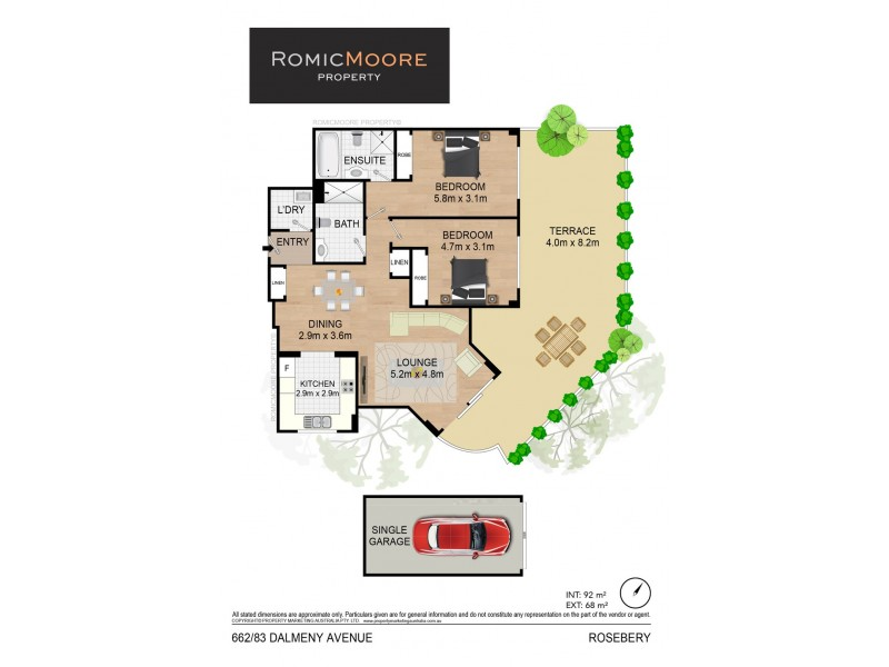 662/83-93 Dalmeny Avenue, Rosebery NSW 2018 Floorplan