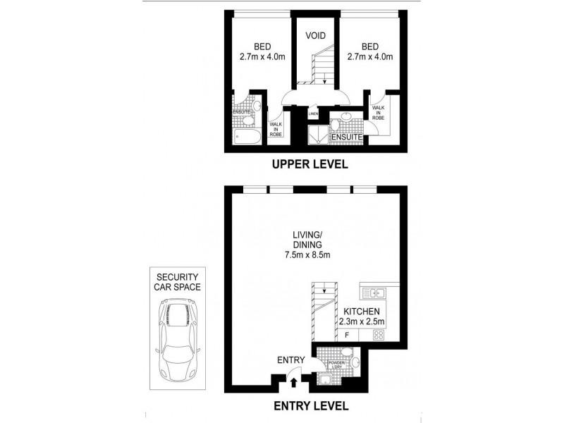 110/133 Goulburn Street, Surry Hills NSW 2010 Floorplan