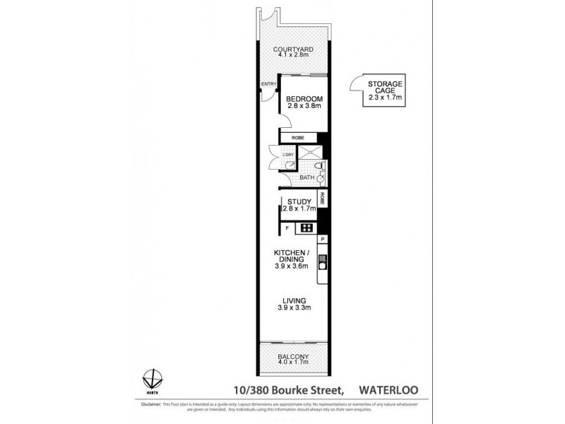 10/1 Thread Lane, Waterloo NSW 2017 Floorplan