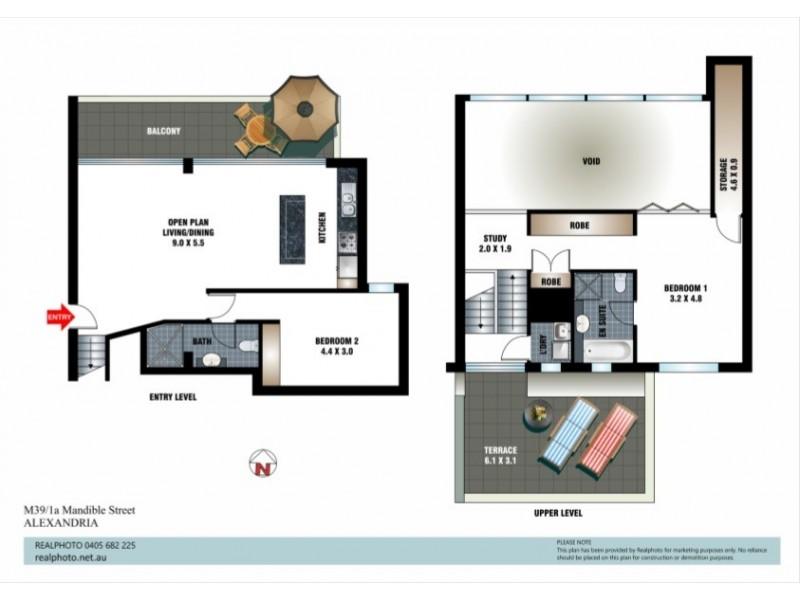 39M/1a Mandible Street, Alexandria NSW 2015 Floorplan
