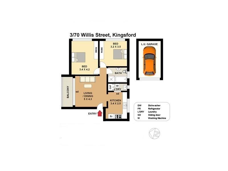 3/70 Willis Street, Kingsford NSW 2032 Floorplan