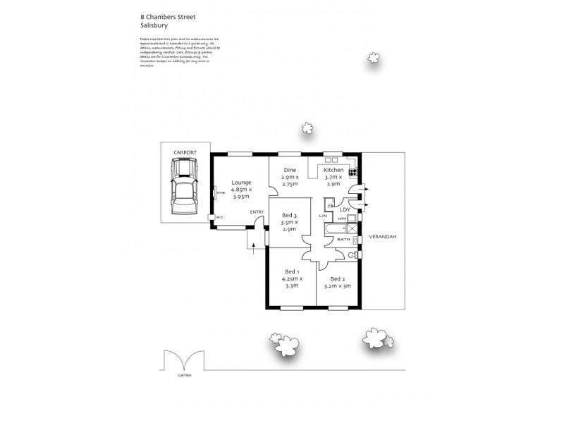 8 Chambers Street, Salisbury SA 5108 Floorplan