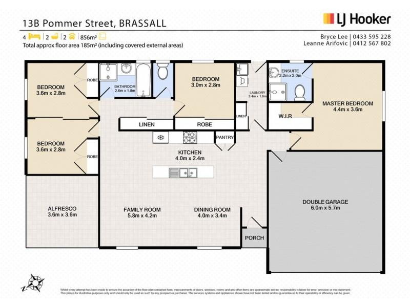 13B Pommer St, Brassall QLD 4305 Floorplan