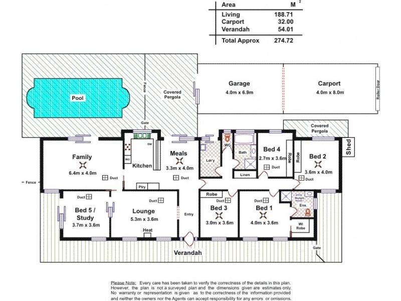24 Karinga Avenue, Craigmore SA 5114 Floorplan